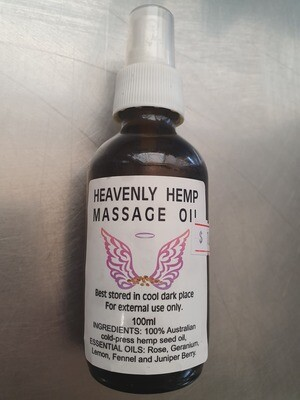 Heavenly Hemp Massage Oil
