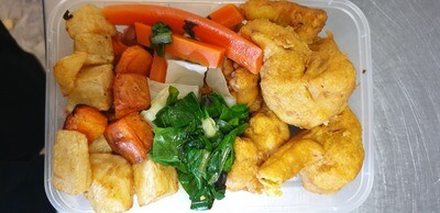 Cauliflower Bits Vegies Potato