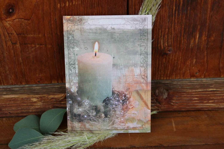 """Karte """"Kerzenschein"""""""