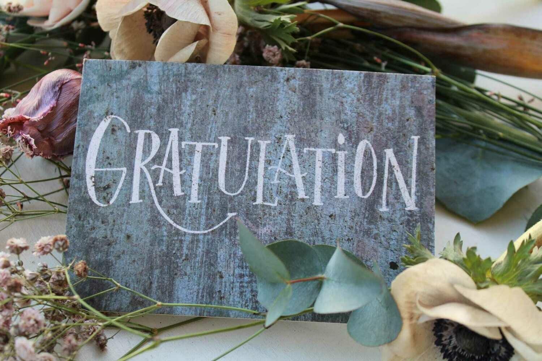 "Karte ""Gratulation"""