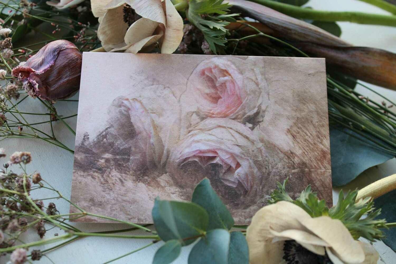 """Karte """"rosa Rosen"""""""