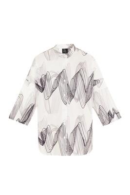 Musical wave print shirt