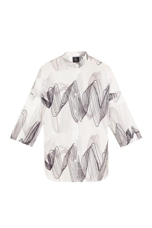 Sound wave print shirt