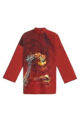 Printed terracotta shirt