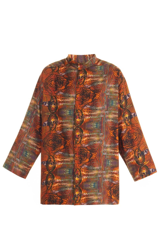 Orange oversize shirt