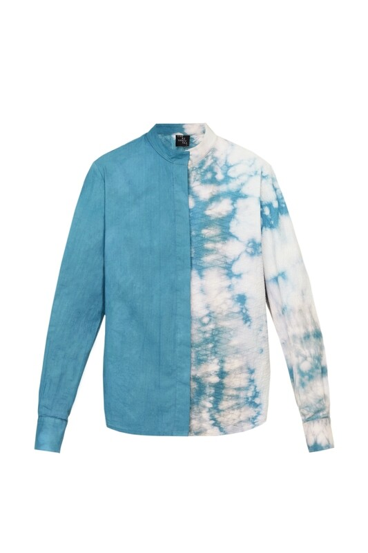 Hand dyed cotton shirt