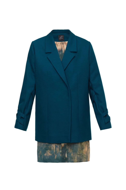 Emerald wool jacket