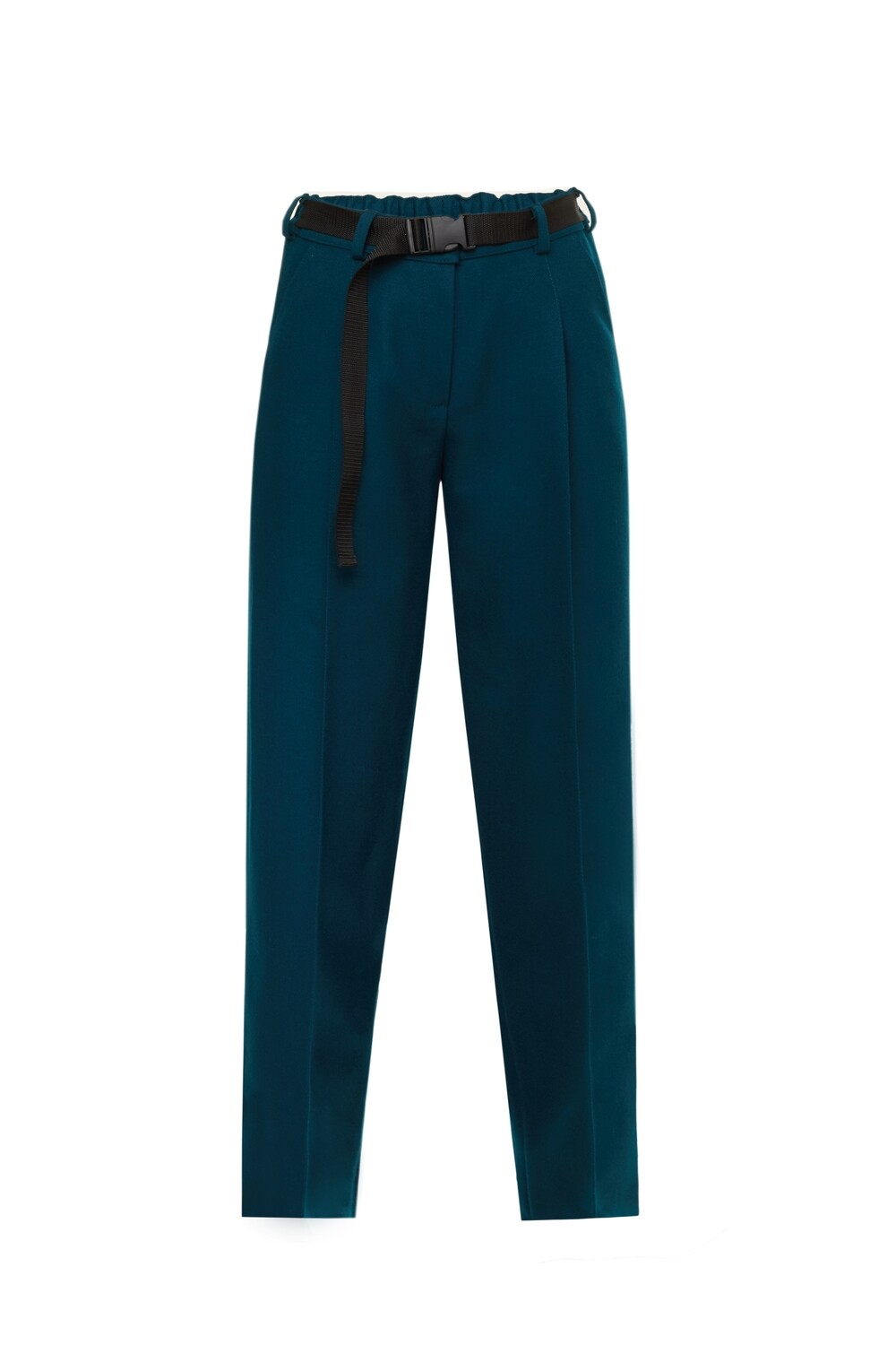 Emerald wool trousers