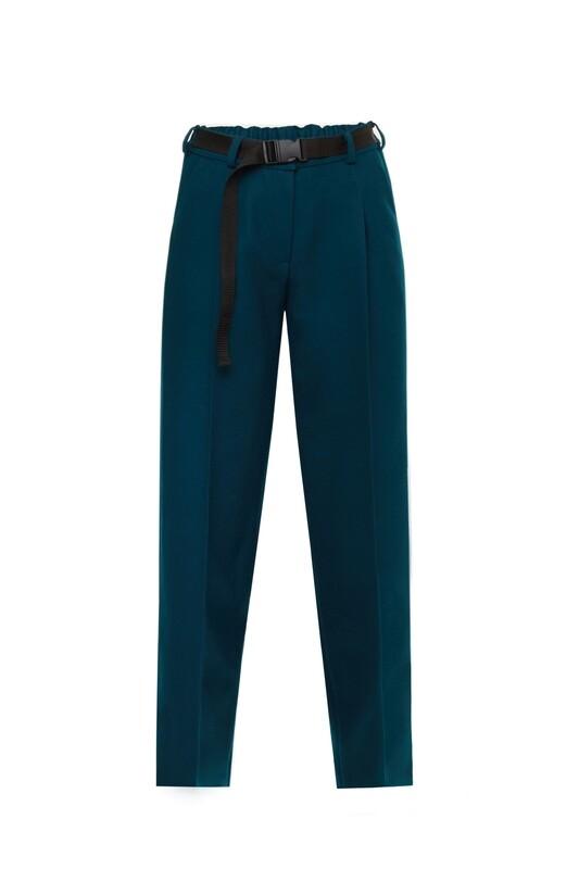 Emerald wool trousers