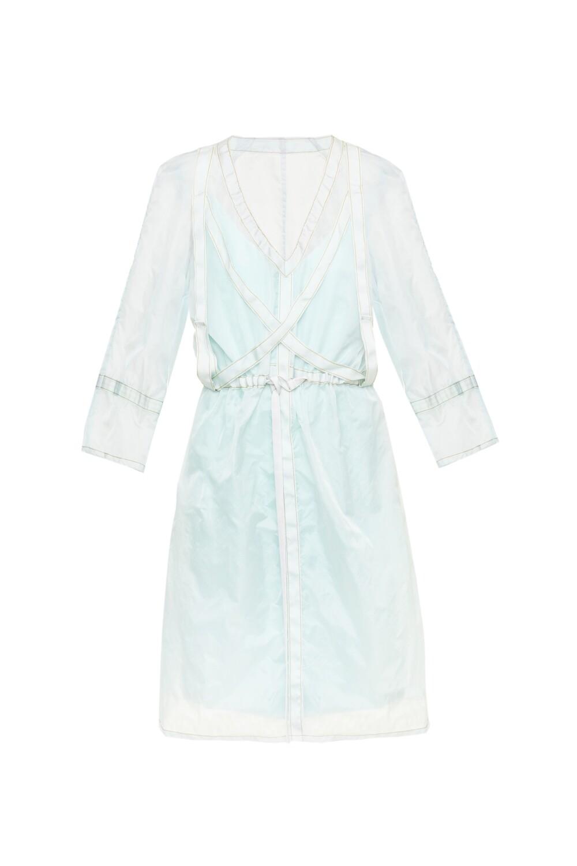 Dress from parachute silk