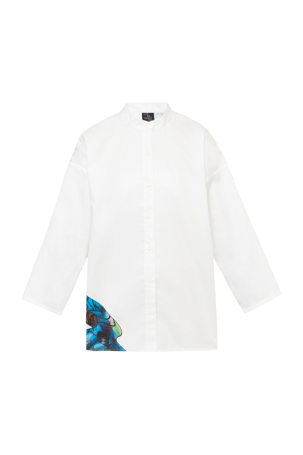 White shirt with printed back