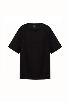 Black oversize blouse