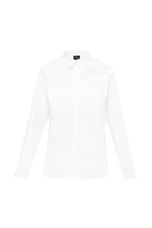 Naked collarbone white shirt