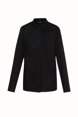 Naked collarbone black shirt