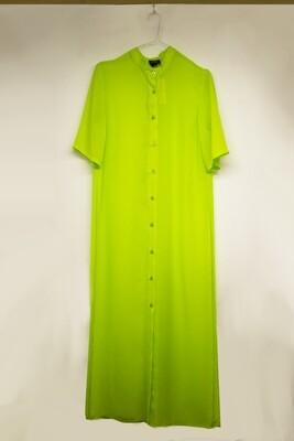 Acid green shirt dress