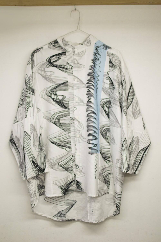 Patchwork oversize shirt