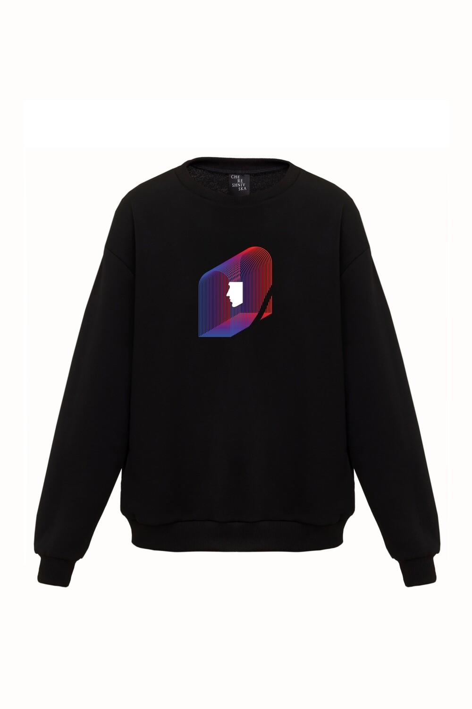 Black oversize sweatshirt