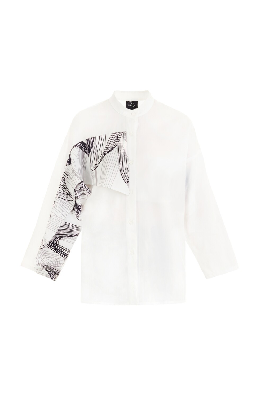 White wave shirt