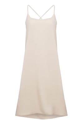 Beige strapless gown