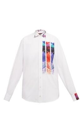 Upcycle white oversize shirt