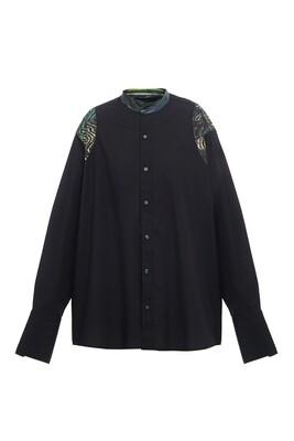 Upcycle black oversize shirt