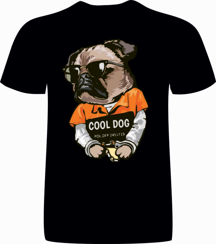 Camiseta chico Buldog Negra