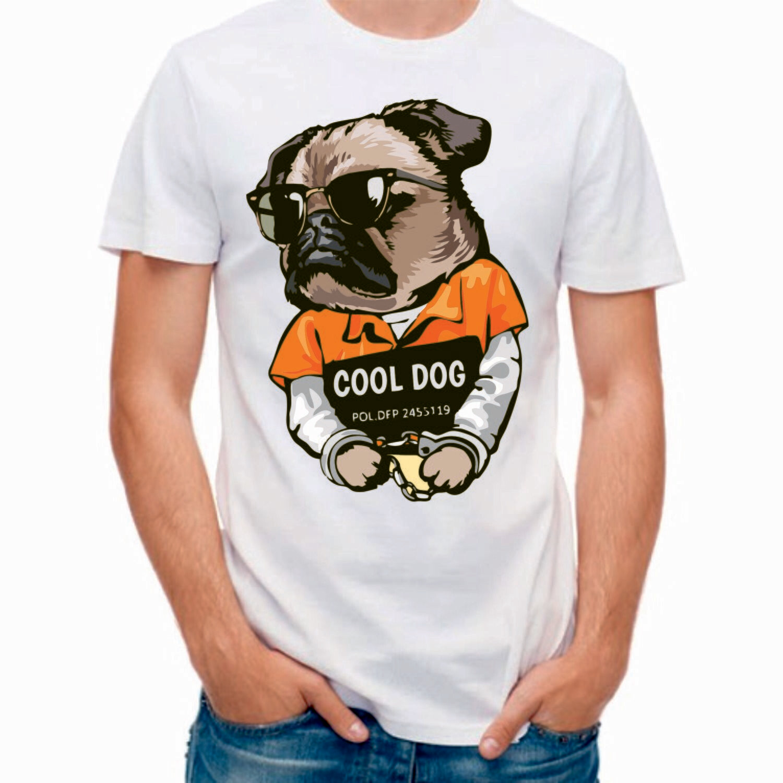 Camiseta Chico Buldog Blanca