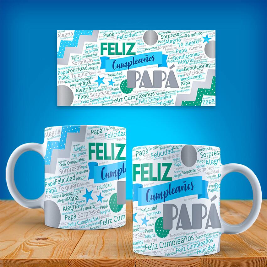 Taza FELIZ CUMPLEAÑOS PAPA