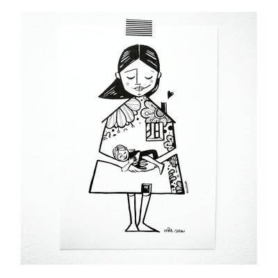 Ilustração #mãecasa
