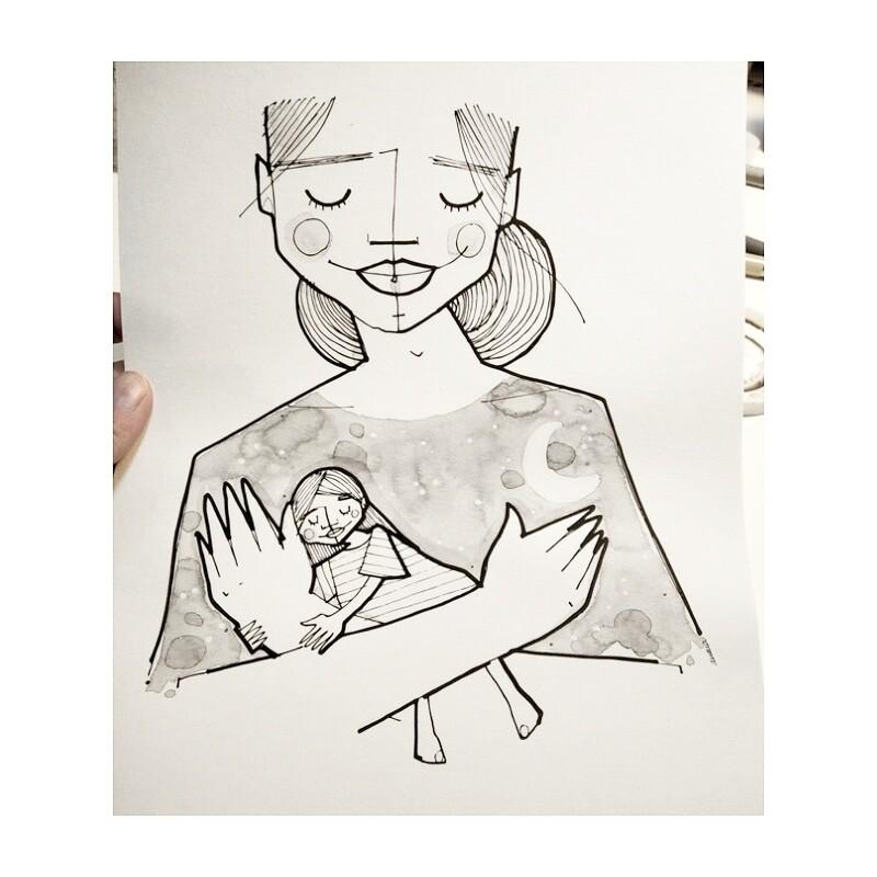 Ilustração #mãeeterna