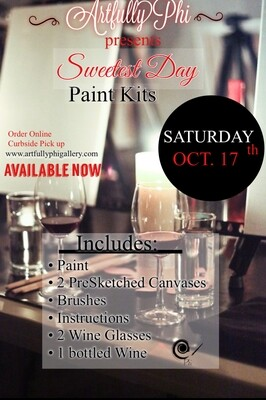 Sweetest Day Paint Nite Kit