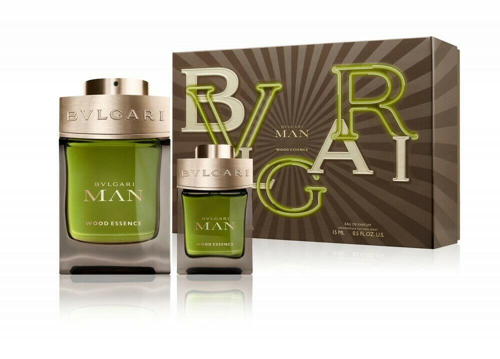 BVLGARI MAN WOOD ESSENCE SET EDP 100 ML+ EDP 15 ML