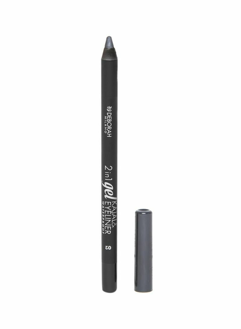 DEBORAH 2 IN 1 GEL KAJAL & EYE LINER PENCIL W.P 02