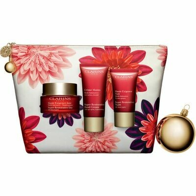 CLARINS SUPER RESTORATIVE DAY & SAMPLE NIGHT & HAND NAIL