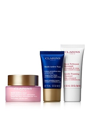 CLARINS SET MULTI ACTIVE DAY & NIGHT & GENTLE FOAMING