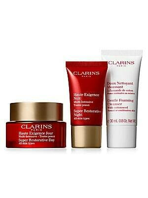 CLARINS SET SUPER RESTORATI DAY & NIGHT & GENTLE FOAMING