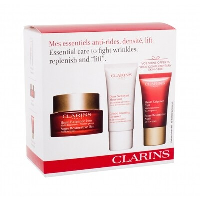 CLARINS SUPER RESTORATIVE DAY AST& GENTLE FOAMING & SR NIGHT
