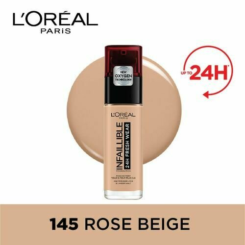 INFALLIBLE LIQUID FOUNDATION 24H 145 BEIGEROSE/ROSEBEI