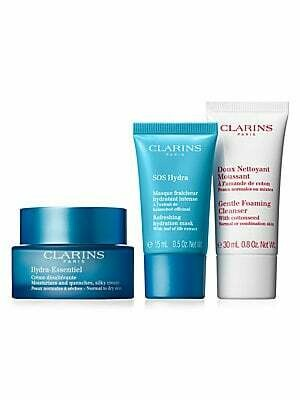 CLARINS SET HYDRA ESSENTIAL CREAM ND & GENTLE FOA. & MASK