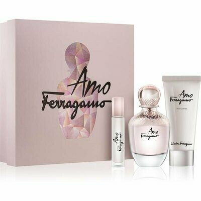 FERRAGAMO AMO  FOR WOMEN EDP 100 ML + 10 ML EDP + 100 ML B/L