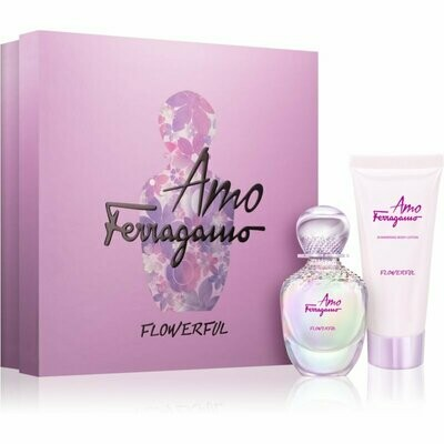 FERRAGAMO AMO FLOWERFUL FOR WOMEN SET EDT 50 ML+ B/L 100 ML