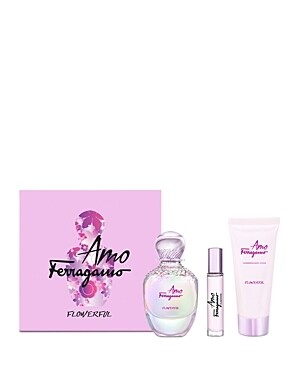 FERRAGAMO AMO FLOWERFUL FOR WOMEN SET EDT 100 ML+10 ML+B/L