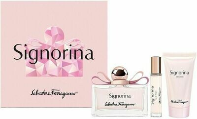 FERRAGAMO SIGNORINA FOR WOMEN SET EDP 100 ML + 10 EDP + B/L