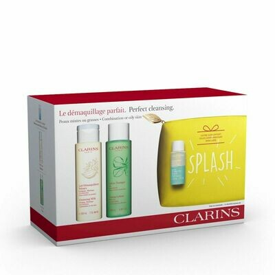 CLARINS SET CLEANS. MILK & TONING LOTION CO & INS. REMOVER