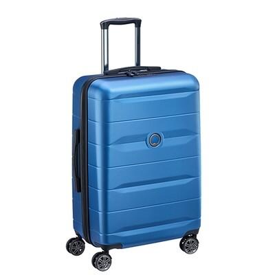 COMETE 55 cm 4 Double Wheels Cabin Trolley light blue