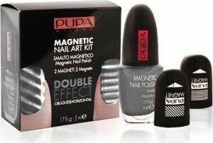 PUPA MAGNETIC NAIL ART KIT SILVER