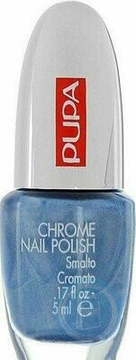 PUPA CHROME NAIL POLISH NO. 19 DENIM BLUE