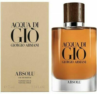 ACQUA DI GIO ABSOLU COLOGNE FOR MEN EDP 75 ML