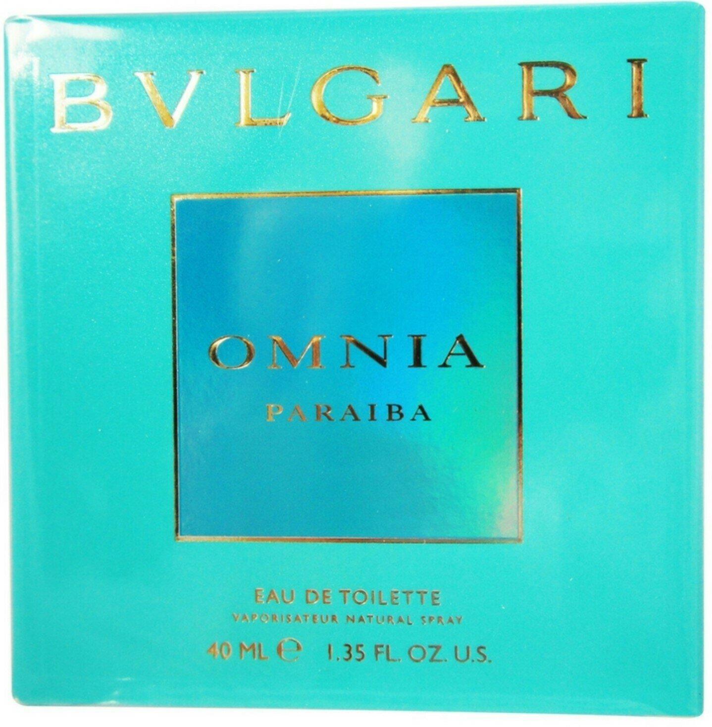BVLGARI OMNIA PARAIBA FOR WOMAN EDT 40 ML