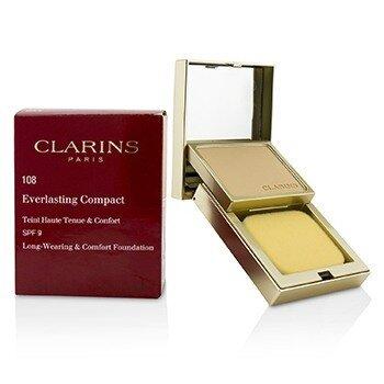 CLARINS EVERLASTING COMPACT FOUNDATION 108 SPF 9